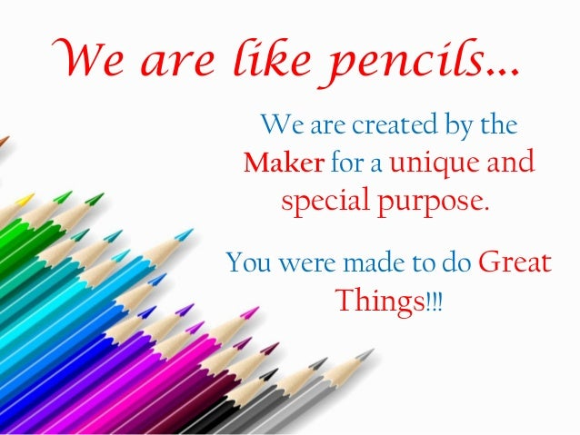 the tale of the pencil story with moral