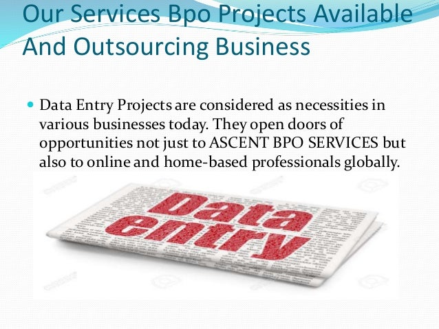 Bpo projects from home