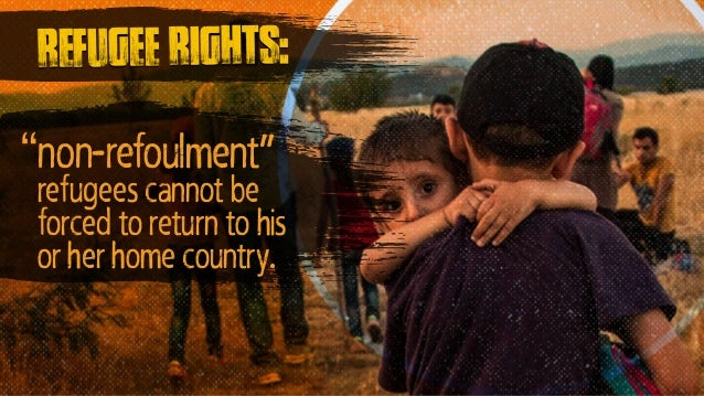 """""""non-refoulment"""" refugees cannot be forced to return to his or her home country. refugee rights:"""