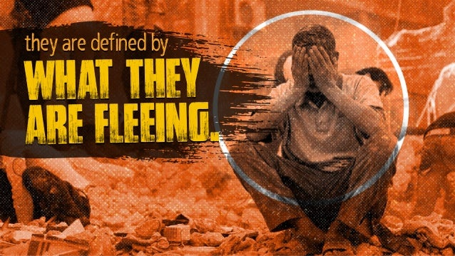 what they are fleeing. they are defined by