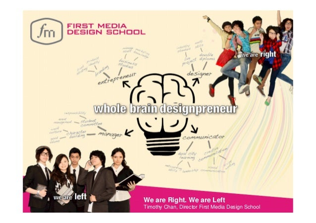 We are Right. We are LeftTimothy Chan, Director First Media Design School
