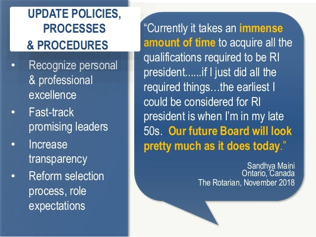"""2 9 """"Currently it takes an immense amount of time to acquire all the qualifications required to be RI president......if I ..."""