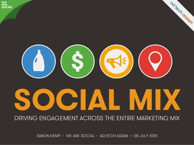 @eskimon • #adtechASEAN • 1We Are Social SOCIAL MIX SIMON KEMP • WE ARE SOCIAL • AD:TECH ASEAN • 08 JULY 2015 DRIVING ENGA...