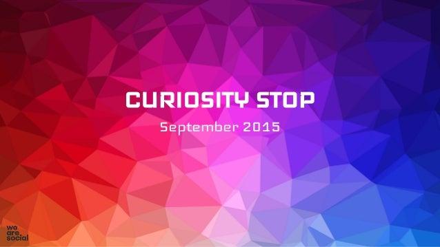 CURIOSITY STOP September 2015