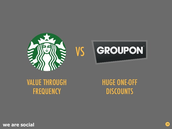 VS          VALUE THROUGH            HUGE ONE-OFF           FREQUENCY               DISCOUNTSwe are social              ...