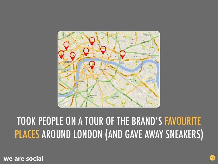 TOOK PEOPLE ON A TOUR OF THE BRAND'S FAVOURITE   PLACES AROUND LONDON (AND GAVE AWAY SNEAKERS)we are social               ...