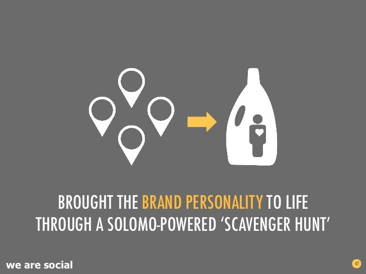 BROUGHT THE BRAND PERSONALITY TO LIFE     THROUGH A SOLOMO-POWERED 'SCAVENGER HUNT'we are social                          ...