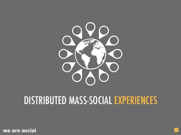 DISTRIBUTED MASS-SOCIAL EXPERIENCESwe are social                                 63