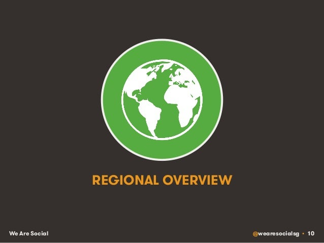 @wearesocialsg • 10We Are Social REGIONAL OVERVIEW