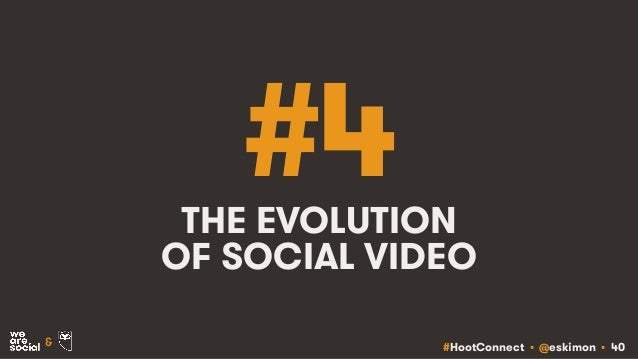 #HootConnect • @eskimon • 40& #4THE EVOLUTION OF SOCIAL VIDEO