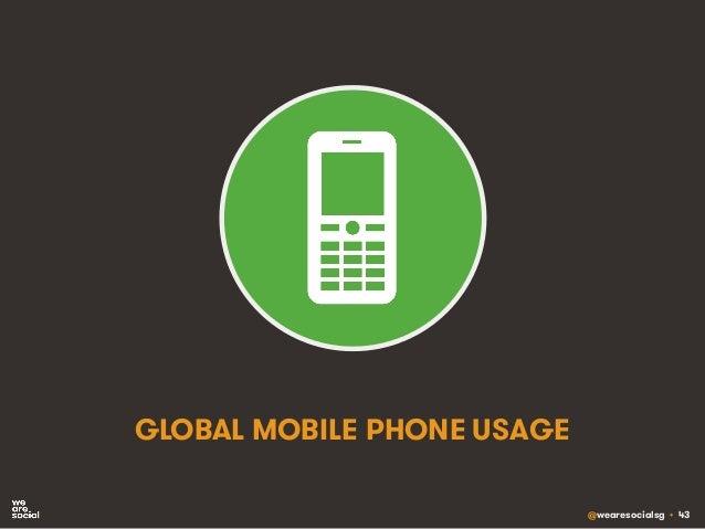 @wearesocialsg • 43 GLOBAL MOBILE PHONE USAGE