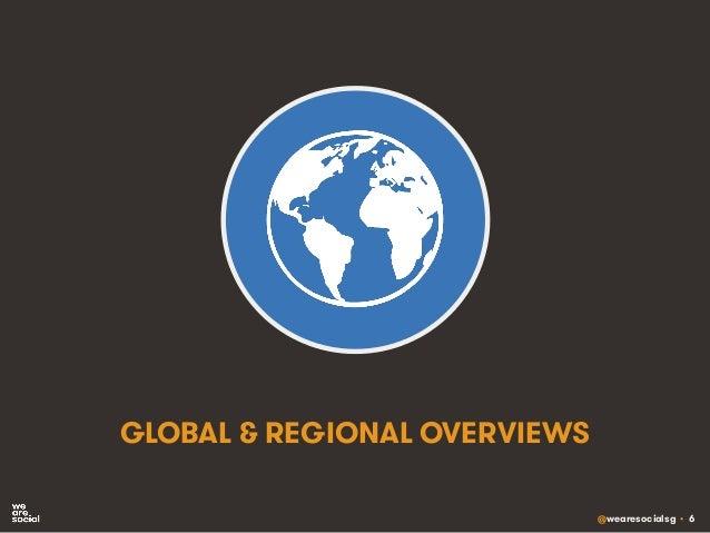 @wearesocialsg • 6 GLOBAL & REGIONAL OVERVIEWS