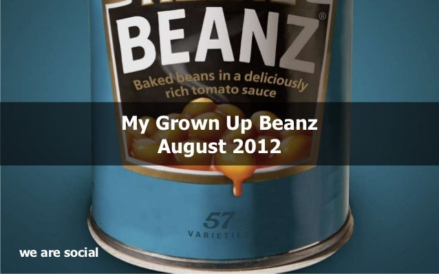 My Grown Up Beanz                   August 2012we are social