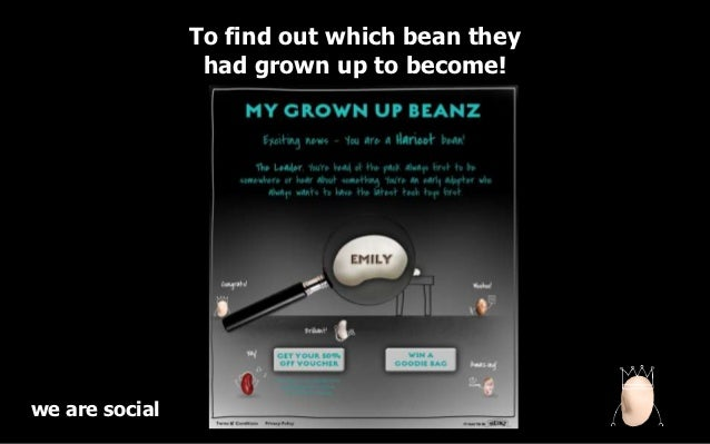 To find out which bean they                 had grown up to become!we are social