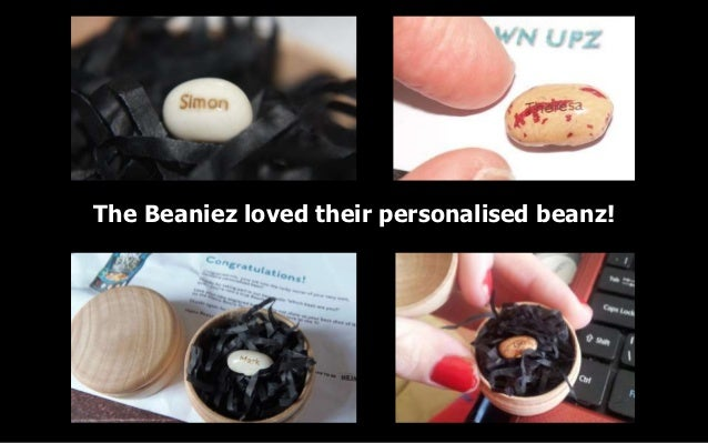 The Beaniez loved their personalised beanz!