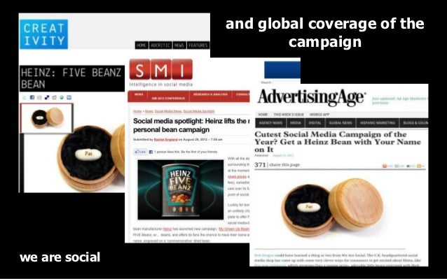 and global coverage of the                        campaignwe are social