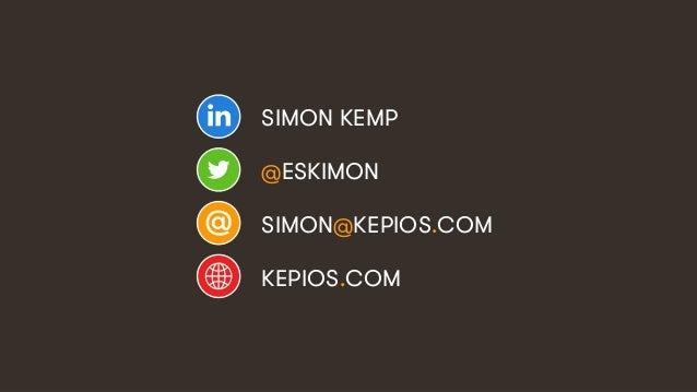 22 SIMON KEMP @ESKIMON SIMON@KEPIOS.COM KEPIOS.COM