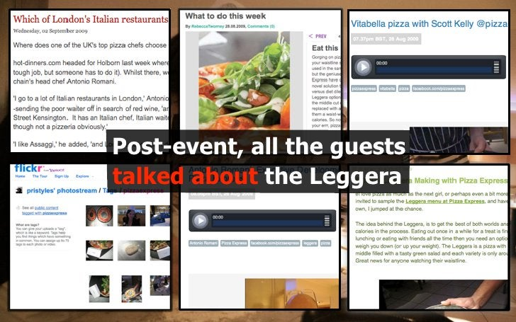 Post-event, all the guests talked about the Leggera