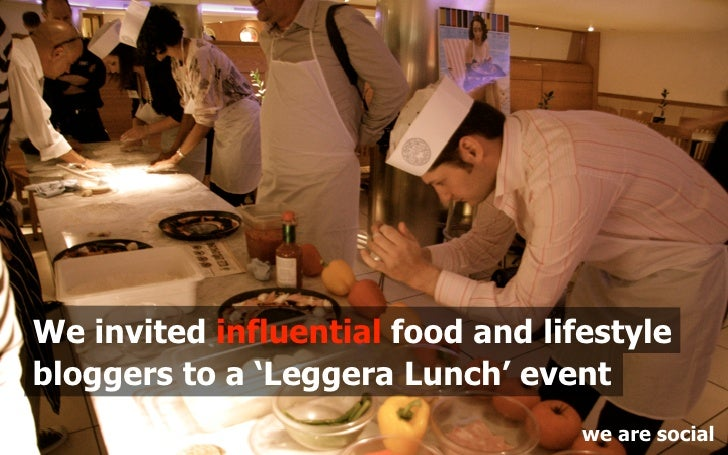 We invited influential food and lifestyle bloggers to a 'Leggera Lunch' event                                    we are so...