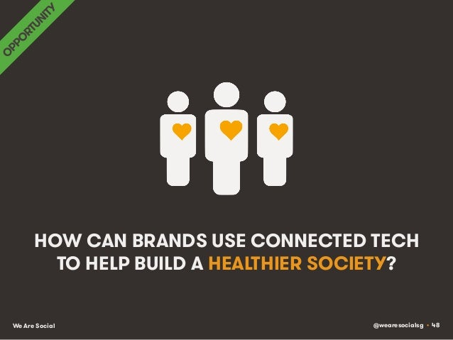 @wearesocialsg • 48We Are Social HOW CAN BRANDS USE CONNECTED TECH TO HELP BUILD A HEALTHIER SOCIETY?