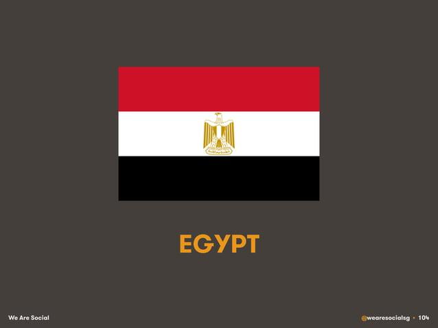 We Are Social @wearesocialsg • 104 EGYPT