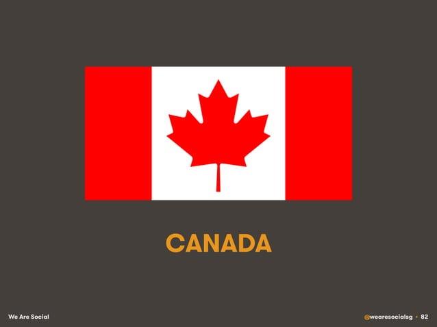We Are Social @wearesocialsg • 82 CANADA