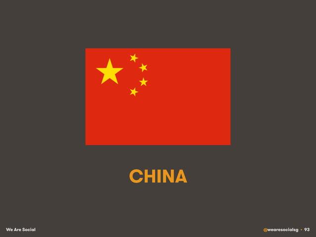 We Are Social @wearesocialsg • 93 CHINA