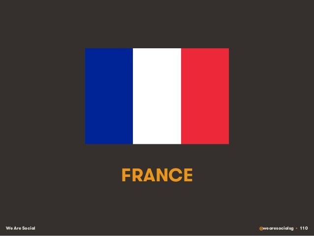 We Are Social @wearesocialsg • 110 FRANCE