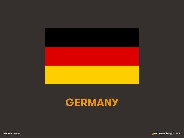 We Are Social @wearesocialsg • 121 GERMANY