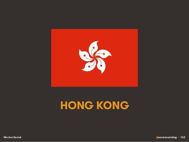 We Are Social @wearesocialsg • 132 HONG KONG