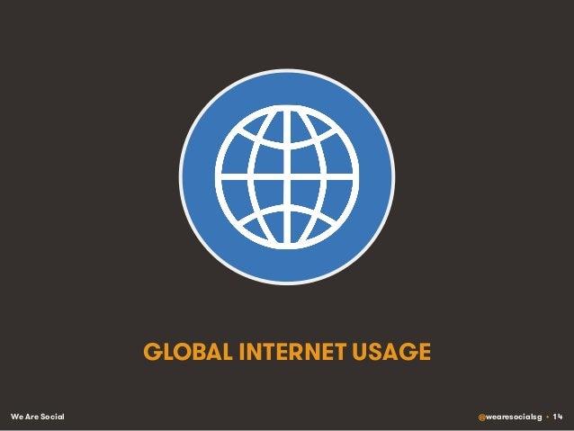 We Are Social @wearesocialsg • 14 GLOBAL INTERNET USAGE