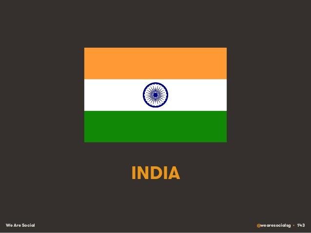 We Are Social @wearesocialsg • 143 INDIA
