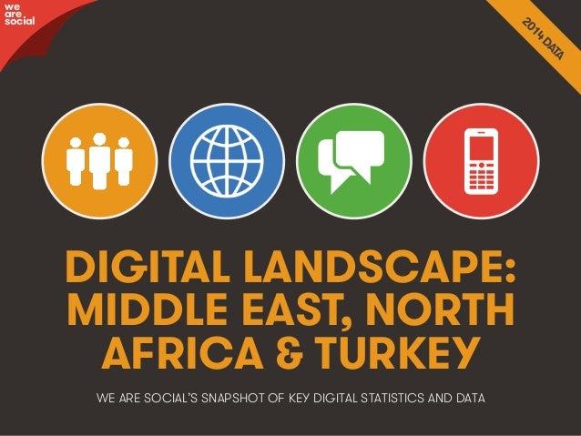 Title • 1We Are Social DIGITAL LANDSCAPE: MIDDLE EAST, NORTH AFRICA & TURKEY we are social WE ARE SOCIAL'S SNAPSHOT OF KEY...