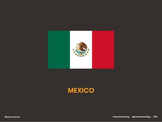 MEXICO  We Are Social  wearesocial.sg • @wearesocialsg • 106