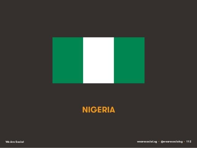 NIGERIA  We Are Social  wearesocial.sg • @wearesocialsg • 112