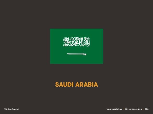 SAUDI ARABIA  We Are Social  wearesocial.sg • @wearesocialsg • 126