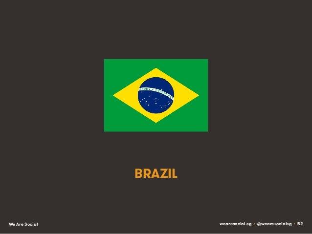 BRAZIL  We Are Social  wearesocial.sg • @wearesocialsg • 52