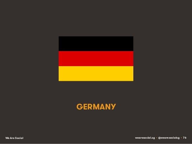 GERMANY  We Are Social  wearesocial.sg • @wearesocialsg • 76