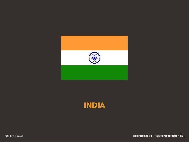 INDIA  We Are Social  wearesocial.sg • @wearesocialsg • 82