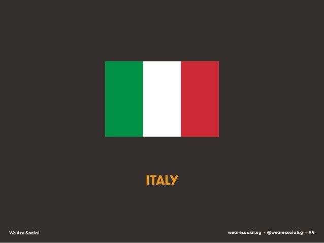 ITALY  We Are Social  wearesocial.sg • @wearesocialsg • 94
