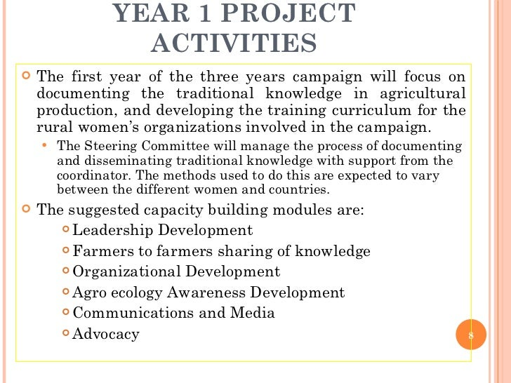 YEAR 1 PROJECT ACTIVITIES <ul><li>The first year of the three years campaign will focus on documenting the traditional kno...