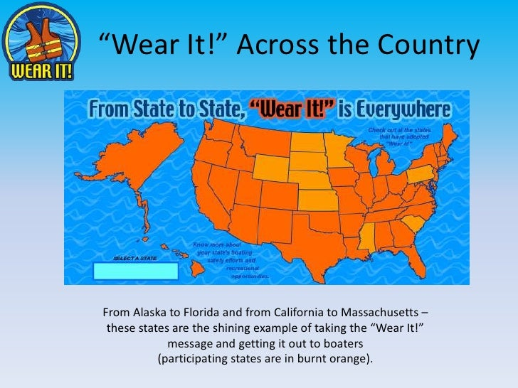 """""""Wear It!"""" Across the Country<br />From Alaska to Florida and from California to Massachusetts – these states are the shin..."""