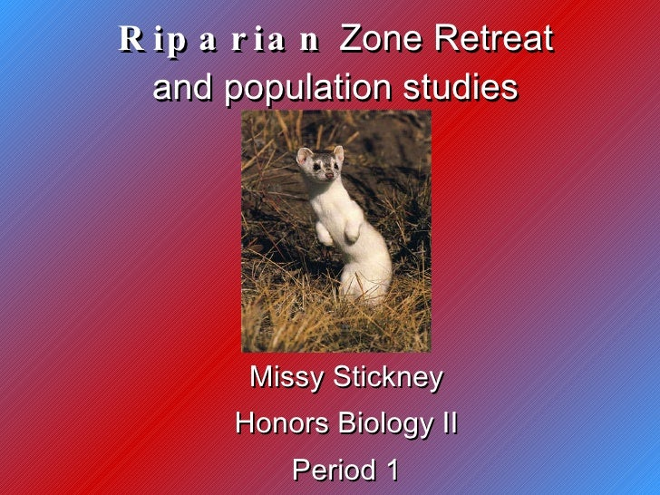 Riparian  Zone Retreat and population studies Missy Stickney Honors Biology II Period 1