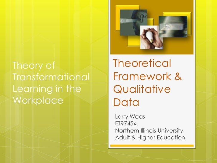 Theory of          TheoreticalTransformational   Framework &Learning in the    QualitativeWorkplace          Data         ...
