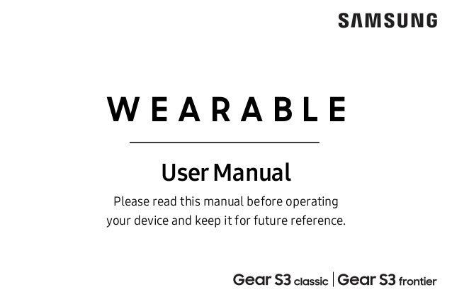 Samsung Gear S3 Sm R770 Sm 760 Final User Manual