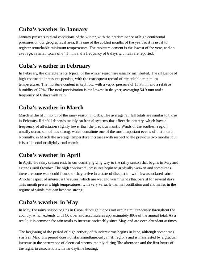 Weather In Cuba - Average temperature in cuba in february