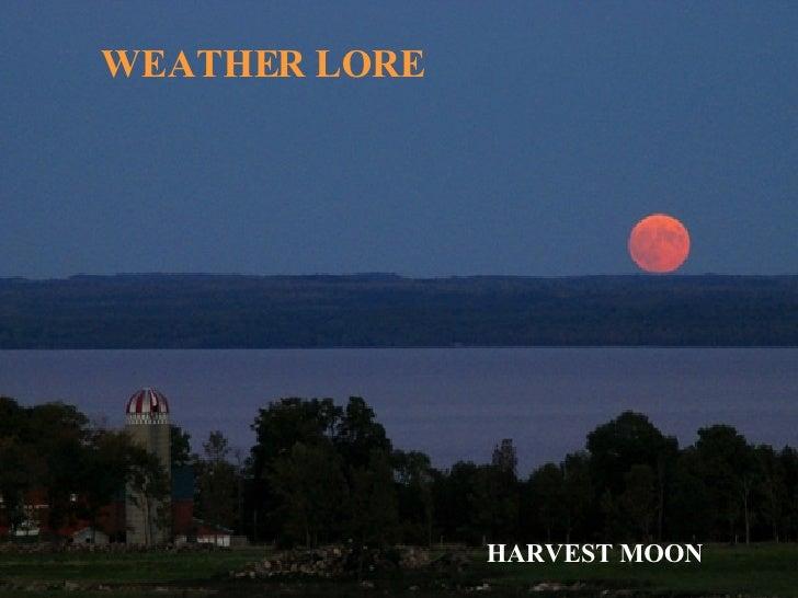WEATHER LORE HARVEST MOON