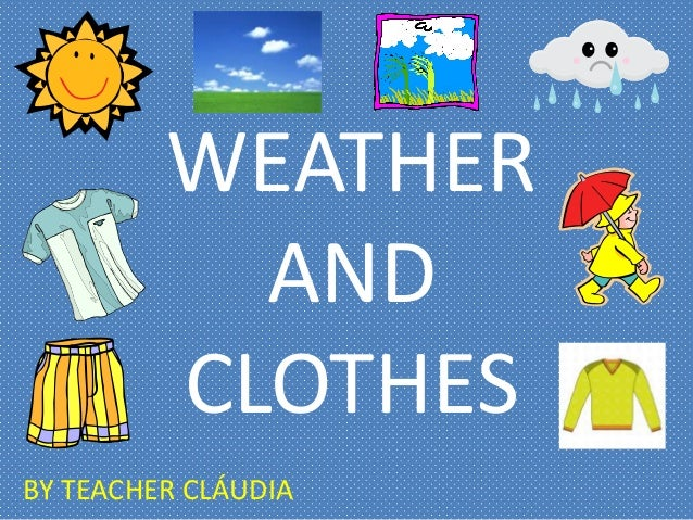 Weather And Clothes Powerpoint on Four Seasons Clip Art