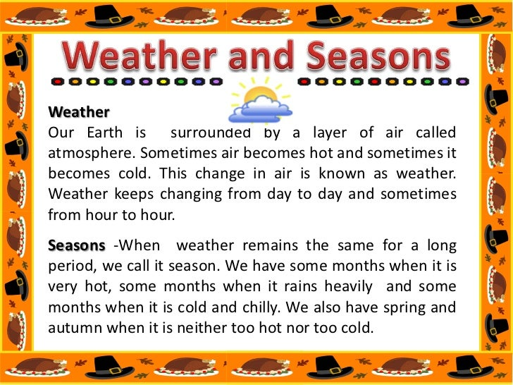 Seasons of the year essay