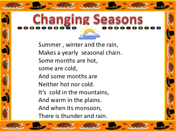weather and seasons <br > 9